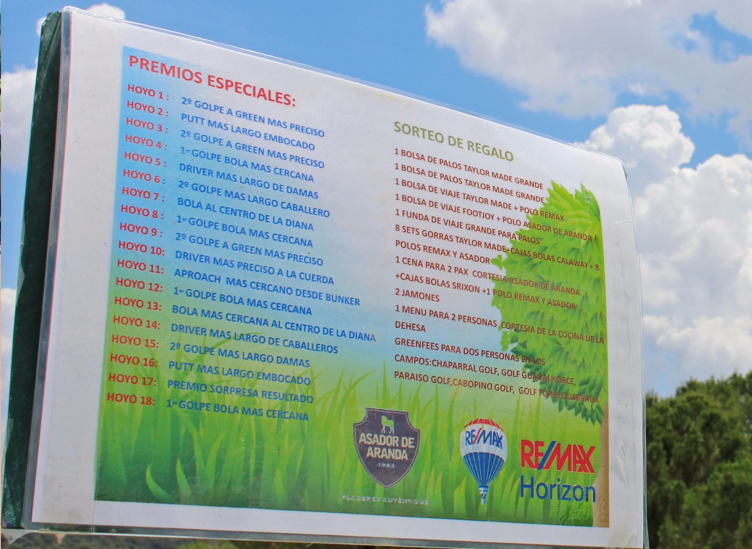 premios golf remax horizon la dehesa villanueva cañada